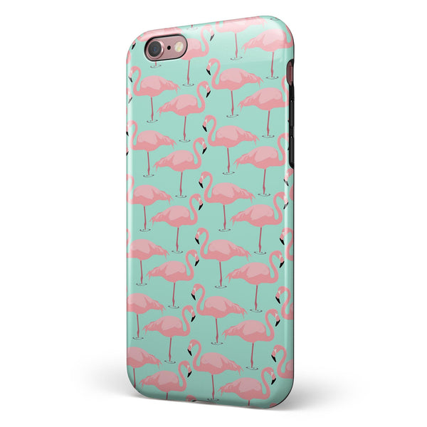 Tropical Twist Flamingos v7 iPhone 6/6s or 6/6s Plus 2-Piece Hybrid INK-Fuzed Case