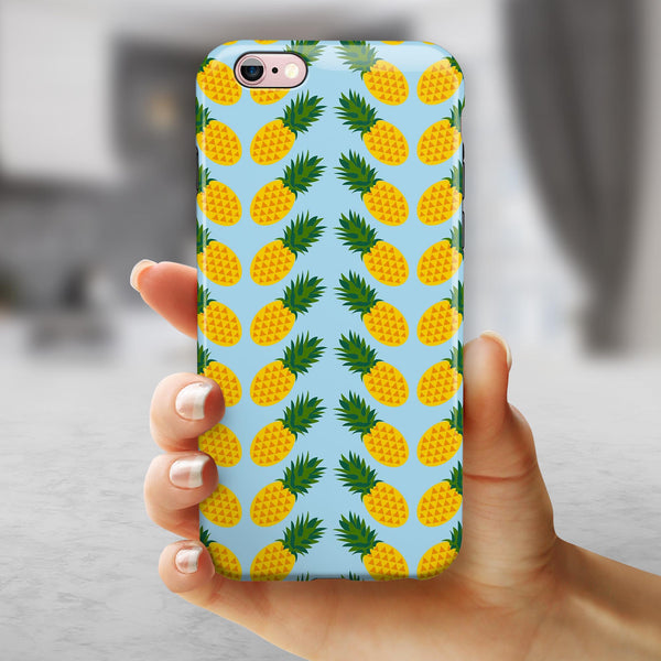 Tropical Twist PineApple v1 iPhone 6/6s or 6/6s Plus 2-Piece Hybrid INK-Fuzed Case