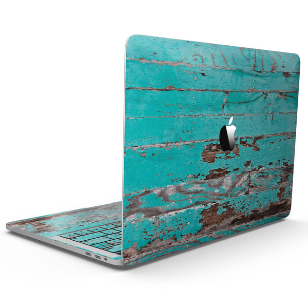 MacBook Pro with Touch Bar Skin Kit - Turquoise_Chipped_Paint_on_Wood-MacBook_13_Touch_V9.jpg?