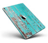 Turquoise Chipped Paint on Wood - iPad Pro 97 - View 1.jpg