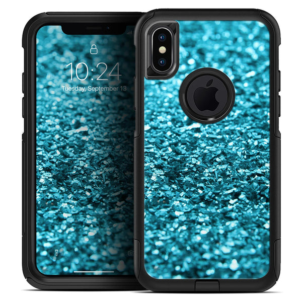 Turquoise Glimmer - Skin Kit for the iPhone OtterBox Cases