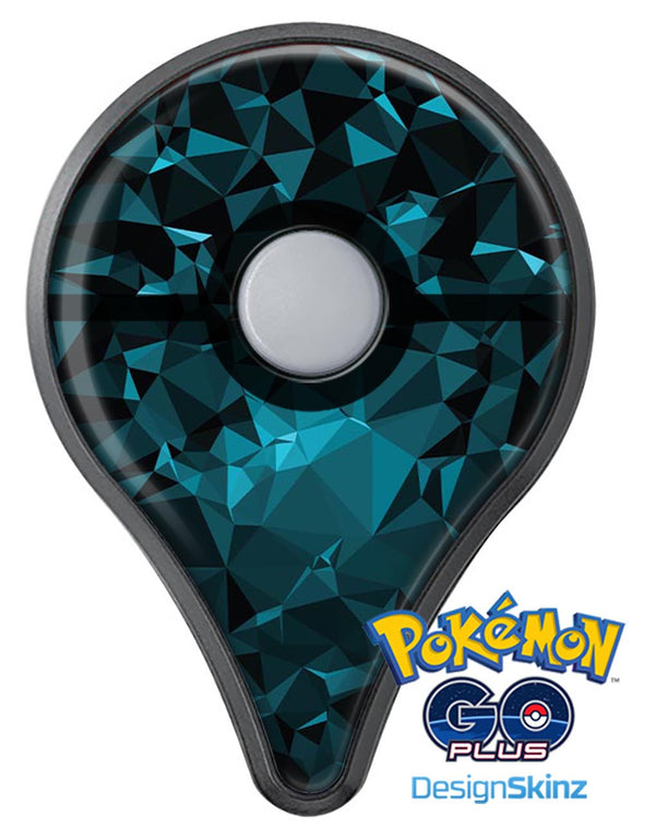 Turquoise and Black Geometric Triangles Pokémon GO Plus Vinyl Protective Decal Skin Kit