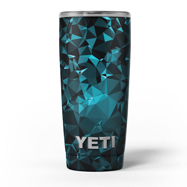 Turquoise_and_Black_Geometric_Triangles_-_Yeti_Rambler_Skin_Kit_-_20oz_-_V5.jpg