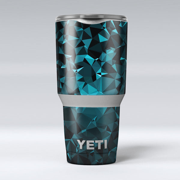 Turquoise_and_Black_Geometric_Triangles_-_Yeti_Rambler_Skin_Kit_-_30oz_-_V1.jpg