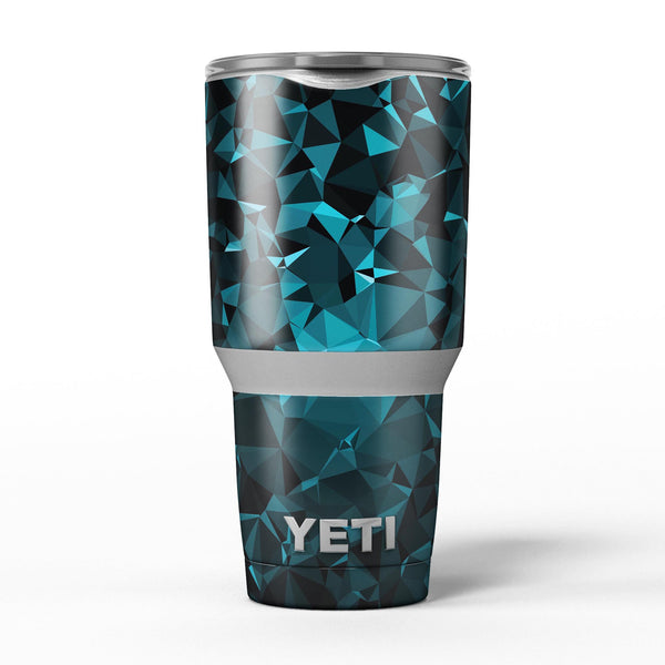 Turquoise_and_Black_Geometric_Triangles_-_Yeti_Rambler_Skin_Kit_-_30oz_-_V5.jpg