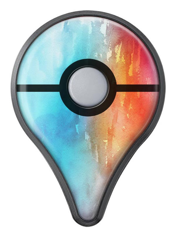 Turquoise to Pink Absorbed Watercolor Texture Pokémon GO Plus Vinyl Protective Decal Skin Kit