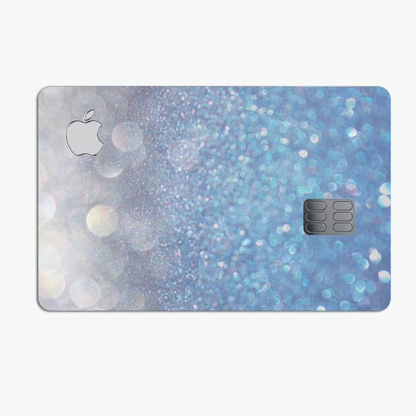Unfocused Blue Orbs of Light - Premium Protective Decal Skin-Kit for the Apple Credit Card