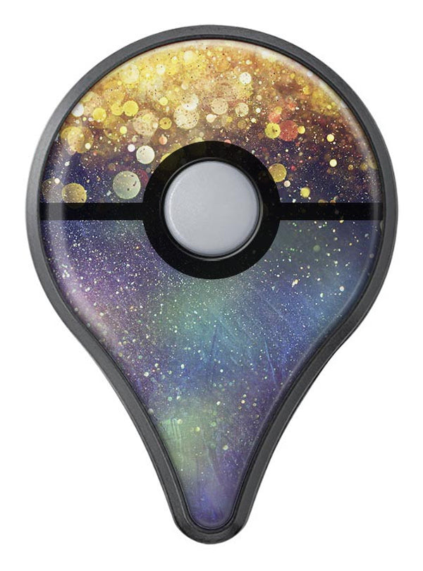 Unfocused MultiColor Gold Sparkle  Pokémon GO Plus Vinyl Protective Decal Skin Kit