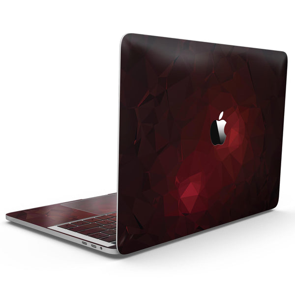 MacBook Pro with Touch Bar Skin Kit - Varying_Shades_of_Red_Geometric_Shapes-MacBook_13_Touch_V9.jpg?
