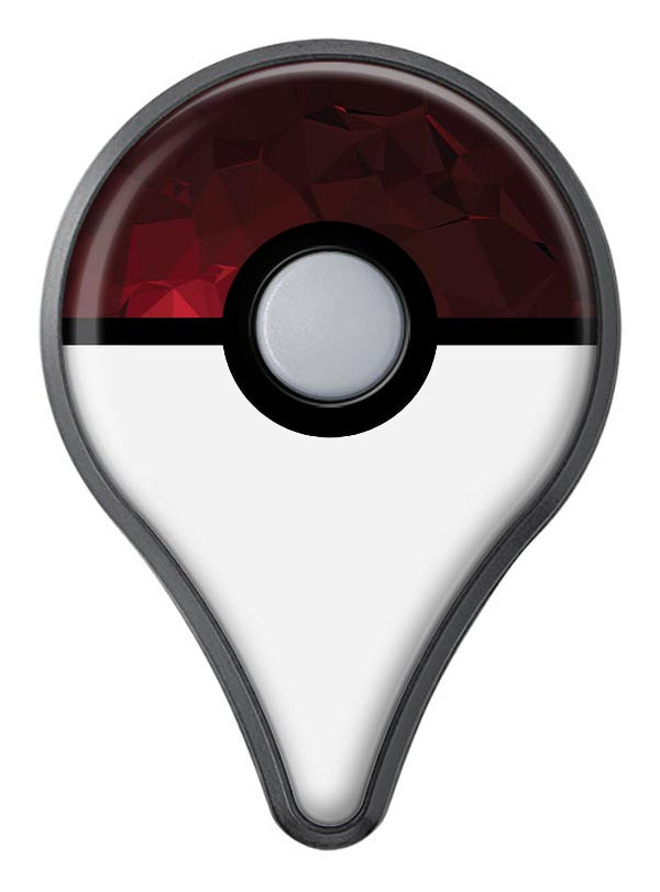 Varying Shades of Red Geometric Shapes Pokémon GO Plus Vinyl Protective Decal Skin Kit