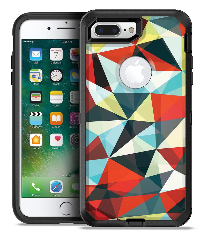 Vector Red and Blue 3D Triangular Surface - iPhone 7 Plus/8 Plus OtterBox Case & Skin Kits