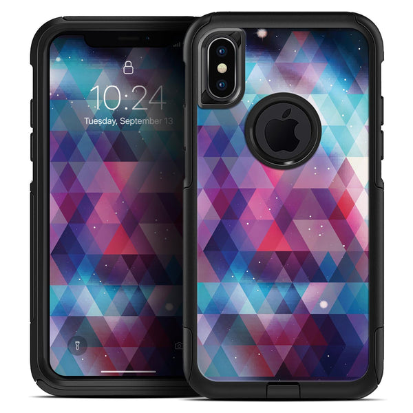 Vector Triangle Pink and Blue Galaxy - Skin Kit for the iPhone OtterBox Cases