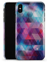 Vector Triangle Pink and Blue Galaxy - iPhone X Clipit Case
