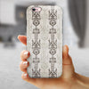 Vertical Neutral Royal Pattern iPhone 6/6s or 6/6s Plus 2-Piece Hybrid INK-Fuzed Case