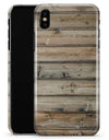 Vertical Planks of Light Woodrgrain - iPhone X Clipit Case