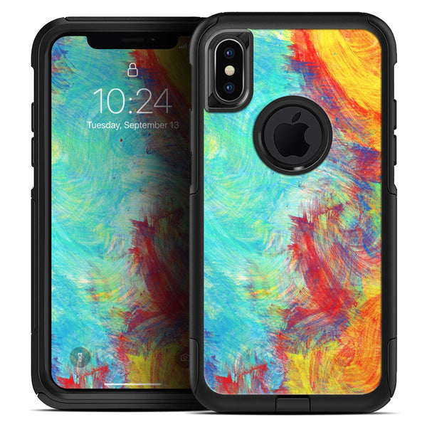 Vibrant Colored Messy Painted Canvas - Skin Kit for the iPhone OtterBox Cases