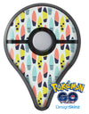 Vibrant Colored Surfboard Pattern Pokémon GO Plus Vinyl Protective Decal Skin Kit