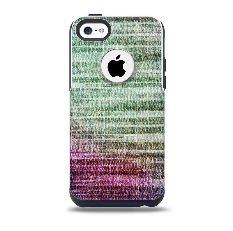 Vibrant Fold Colored Fabric Skin for the iPhone 5c OtterBox Commuter Case