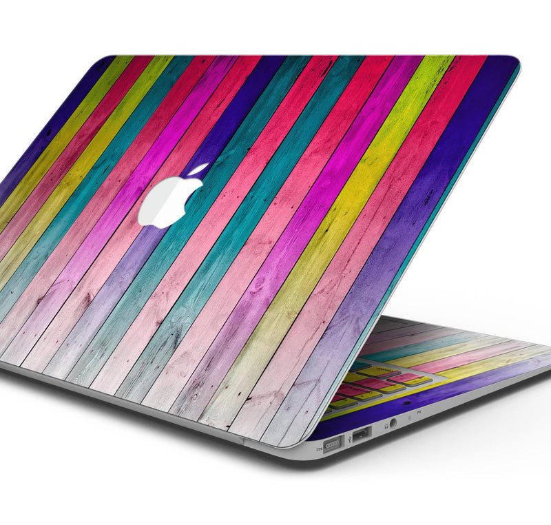11, 12, Skin Decal Wrap Kit Compatible with the Apple MacBook Pro Pro with Touch Bar or Air Grungy Neon Triangular Zig Zag Shapes