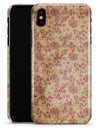 Vintage Brown and Maroon Floral Pattern - iPhone X Clipit Case