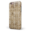 Vintage Brown and Tan Rococo Pattern iPhone 6/6s or 6/6s Plus 2-Piece Hybrid INK-Fuzed Case