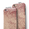 Vintage Faded Maroon Rococo Pattern iPhone 6/6s or 6/6s Plus 2-Piece Hybrid INK-Fuzed Case