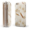 Vintage Flowing Feathers iPhone 6/6s or 6/6s Plus 2-Piece Hybrid INK-Fuzed Case