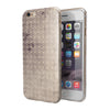 Vintage Micro Brown and Tan Cross Pattern iPhone 6/6s or 6/6s Plus 2-Piece Hybrid INK-Fuzed Case