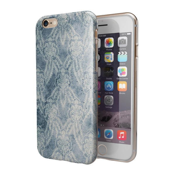 Vintage Navy Cacti Damask Pattern iPhone 6/6s or 6/6s Plus 2-Piece Hybrid INK-Fuzed Case
