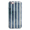 Vintage Navy and White Vertical Stripes iPhone 6/6s or 6/6s Plus 2-Piece Hybrid INK-Fuzed Case