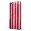 Vintage Pink and Red Verticle Stripes iPhone 6/6s or 6/6s Plus 2-Piece Hybrid INK-Fuzed Case