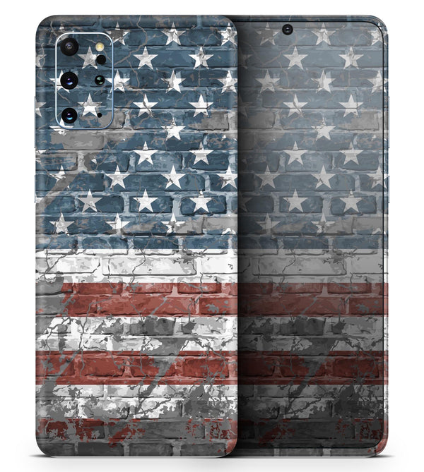 Vintage USA Flag - Skin-Kit for the Samsung Galaxy S-Series S20, S20 Plus, S20 Ultra , S10 & others (All Galaxy Devices Available)