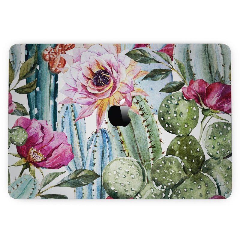 MacBook Pro with Touch Bar Skin Kit - Vintage_Watercolor_Cactus_Bloom-MacBook_13_Touch_V3.jpg?