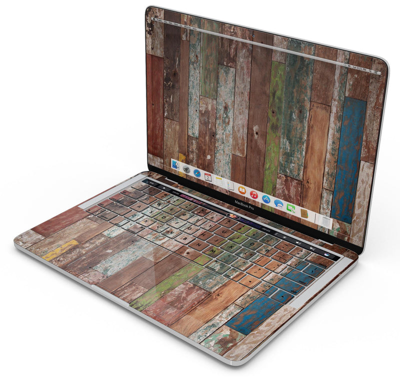 "Vintage Wood Planks - Skin Decal Wrap Kit Compatible with the Apple MacBook Pro, Pro with Touch Bar or Air (11"", 12"", 13"", 15"" & 16"" - All Versions Available)"