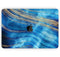 "Vivid Agate Vein Slice Blue V1 - Skin Decal Wrap Kit Compatible with the Apple MacBook Pro, Pro with Touch Bar or Air (11"", 12"", 13"", 15"" & 16"" - All Versions Available)"