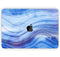 "Vivid Agate Vein Slice Blue V5 - Skin Decal Wrap Kit Compatible with the Apple MacBook Pro, Pro with Touch Bar or Air (11"", 12"", 13"", 15"" & 16"" - All Versions Available)"