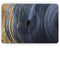 "Vivid Agate Vein Slice Foiled V6 - Skin Decal Wrap Kit Compatible with the Apple MacBook Pro, Pro with Touch Bar or Air (11"", 12"", 13"", 15"" & 16"" - All Versions Available)"