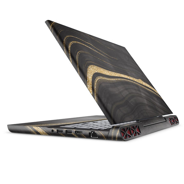 Vivid Agate Vein Slice Foiled V9 - Full Body Skin Decal Wrap Kit for the Dell Inspiron 15 7000 Gaming Laptop (2017 Model)