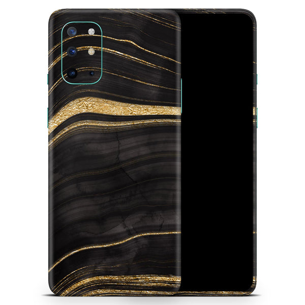 Vivid Agate Vein Slice Foiled V9 - Full Body Skin Decal Wrap Kit for OnePlus Phones