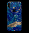 Vivid Blue Gold Acrylic - iPhone XS MAX, XS/X, 8/8+, 7/7+, 5/5S/SE Skin-Kit (All iPhones Available)