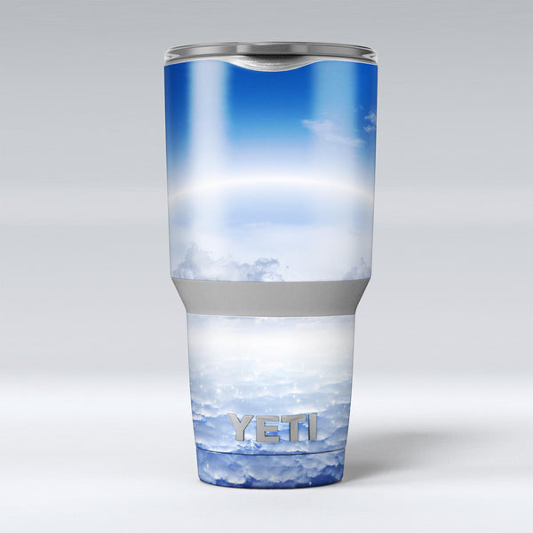 Vivid_Blue_Reflective_Clouds_on_the_Horizon_-_Yeti_Rambler_Skin_Kit_-_30oz_-_V1.jpg