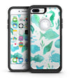 Vivid Blue Watercolor Sea Creatures V2 - iPhone 7 or 7 Plus Commuter Case Skin Kit