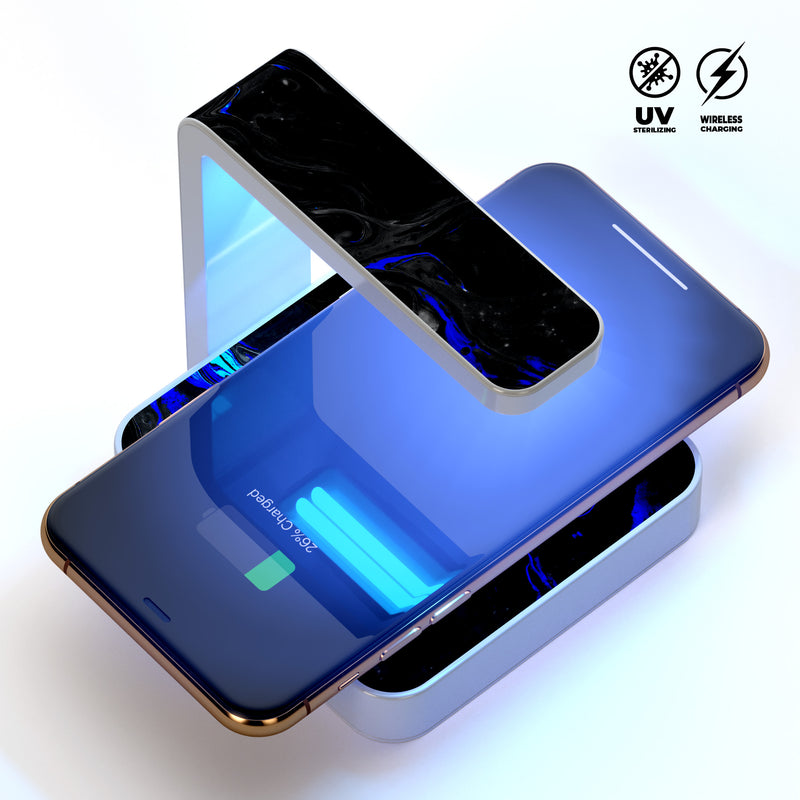 Vivid Colored Marbling Acrylic V3 UV Germicidal Sanitizing Sterilizing Wireless Smart Phone Screen Cleaner + Charging Station