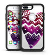 Vivid Colorful Chevron Water Heart - iPhone 7 or 7 Plus Commuter Case Skin Kit