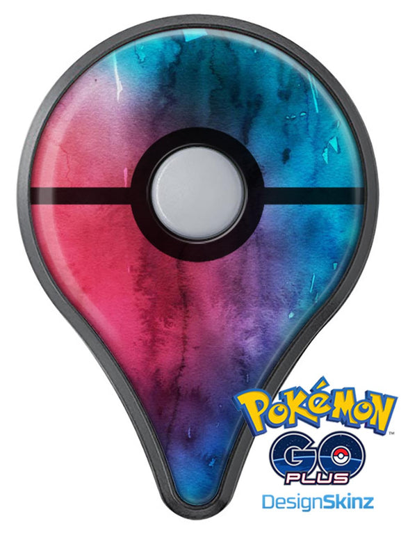 Vivid Pink 869 Absorbed Watercolor Texture Pokémon GO Plus Vinyl Protective Decal Skin Kit
