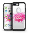 Vivid Pink Hello Summer - iPhone 7 or 7 Plus Commuter Case Skin Kit