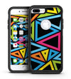 Vivid Retro Overlap - iPhone 7 or 7 Plus Commuter Case Skin Kit