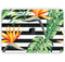 "Vivid Tropical Stripe Floral v1 - Skin Decal Wrap Kit Compatible with the Apple MacBook Pro, Pro with Touch Bar or Air (11"", 12"", 13"", 15"" & 16"" - All Versions Available)"