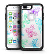Vivid Vector Butterflies - iPhone 7 or 7 Plus Commuter Case Skin Kit