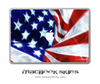 Swirled American Flag MacBook Skin